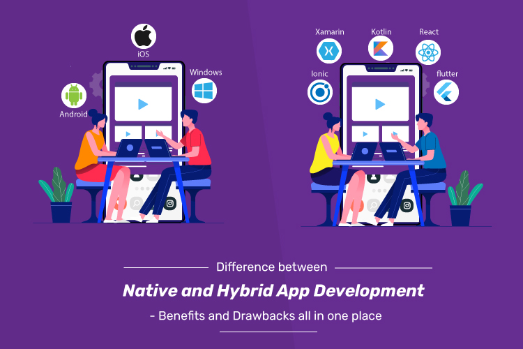 Difference between Native and Hybrid App Development - Benefits and Drawbacks all in one place
